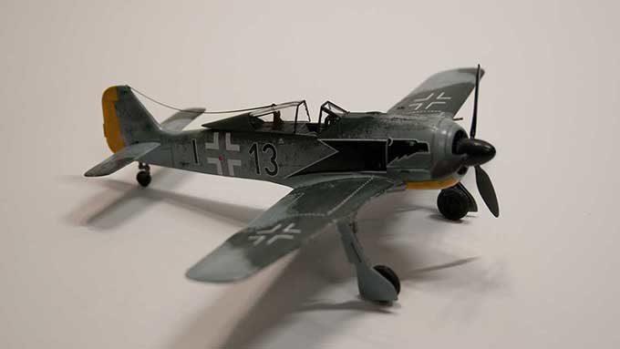 フォッケウルフFw190 A3 プラモデル完成写真