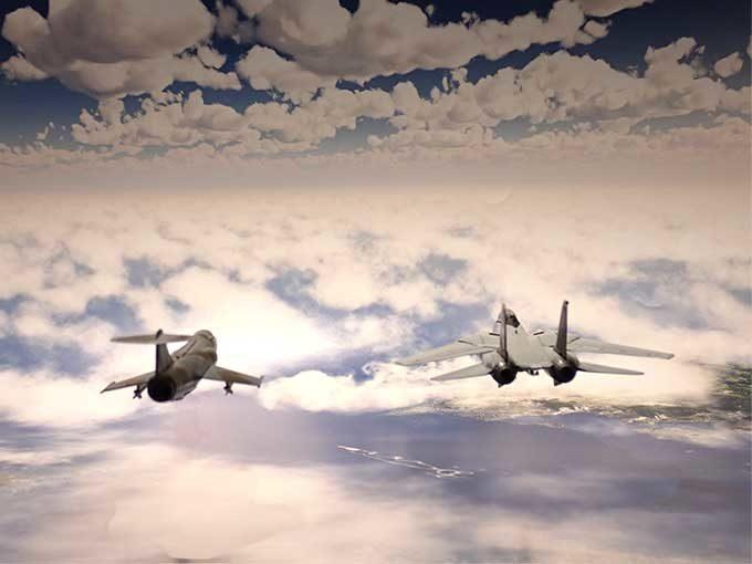 F-14,F-104ジオラマ