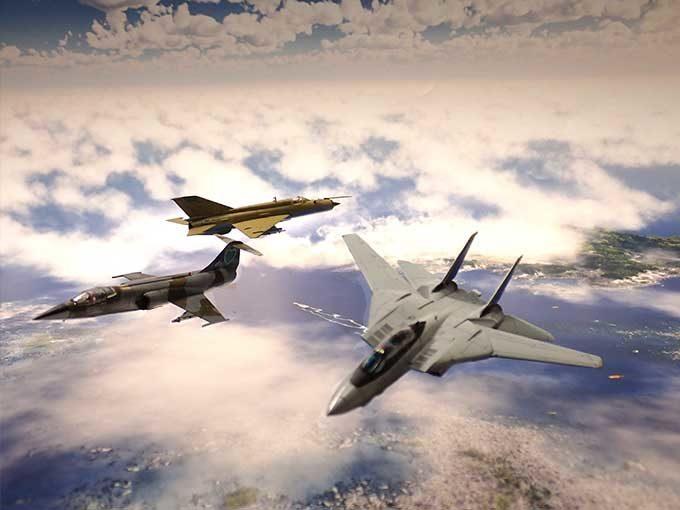 F-14,F-104,MiG-21ジオラマ