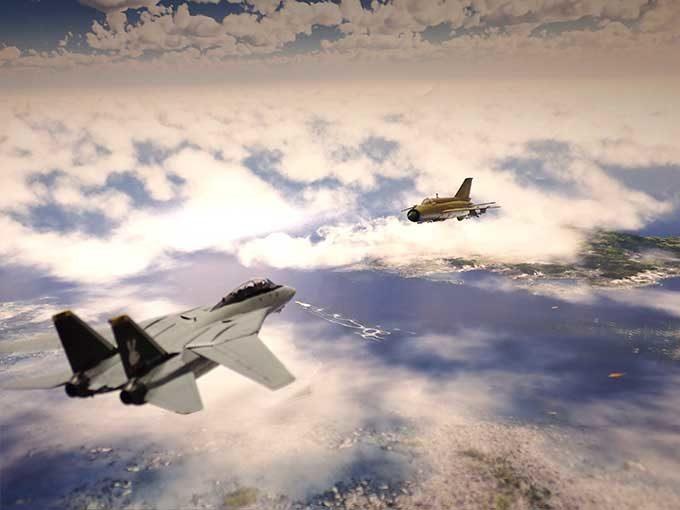 F-14,MiG-21ジオラマ