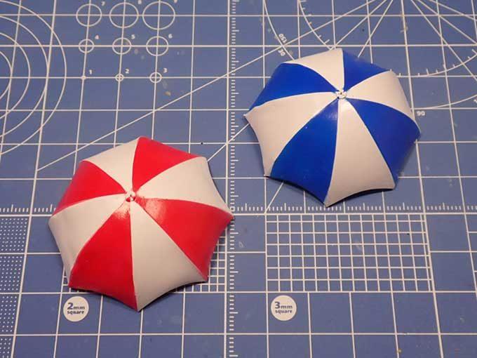 塗装した傘