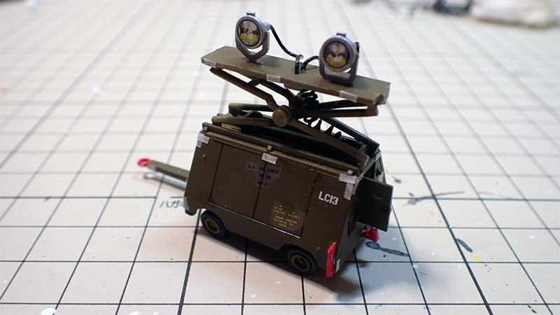 製作した投光器